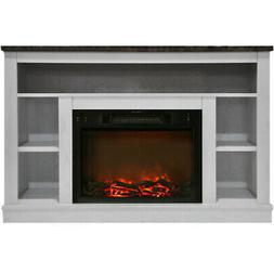 Cambridge CAM5021-1WHT 47 In. Electric Fireplace with 1500W