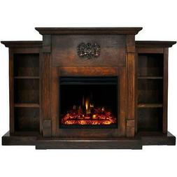 Cambridge Sanoma Electric Fireplace Heater with 72-In. Walnu