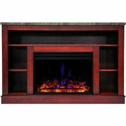 "Cambridge Seville Electric Fireplace Heater with 47"" Cherry"