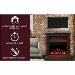 "Cambridge Sienna 34"" Electric Fireplace Heater with Cherry M"
