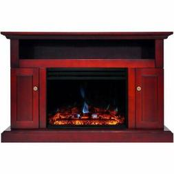 "Cambridge Sorrento Electric Fireplace Heater with 47"" Cherry"