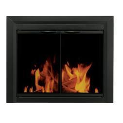 Carlisle Cabinet Style Fireplace Screen and Smoked Glass Doo