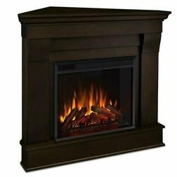 Real Flame Chateau Dark Walnut Corner Electric Indoor Firepl