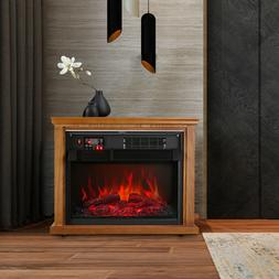 """28"""" Electric Fireplace Embedded Insert Heater Flame with Rem"""