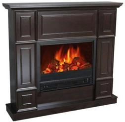 classic dark chocolate electric fireplace 44 mantle