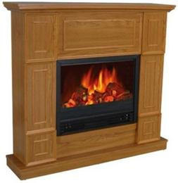"44"" Classic Golden Oak Electric Fireplace Mantle Fireplaces"