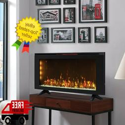 "Classicflame 42""Wall-Mounted Infrared Quartz Electric Fire"