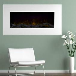 Color Changing LED Electric Fireplace White Living Room Whit