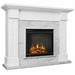 Complete Real Flame Kipling Electric Fireplace in White, 603