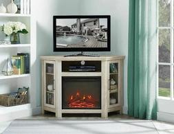Electric Fireplace Corner TV Stand Free Standing Fire Heater
