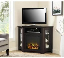 Corner Electric Fireplace TV Stand Free Standing Heater Mode