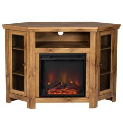 Corner Fireplace TV Stand Electric Mantel Living Room Bedroo