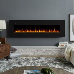 """Real Flame Corretto 72"""" Wall Mounted Electric Fireplace in B"""