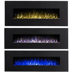 """Regal FlameDenali 60"""" 3 Color Ventless Heater Electric Wall"""