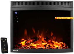E-Flame Usa Edmonton 28-Inch Curved Led Electric Fireplace I