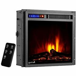 """E-Flame USA Montana 19""""x18"""" LED Electric Fireplace Stove Ins"""