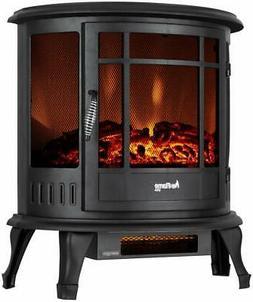 e-Flame USA Regal Freestanding Electric Fireplace Stove - 3-