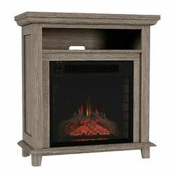 Electric Fireplace Console TV Stand or Accent Table Faux Log