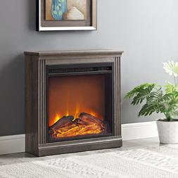 Electric Fireplace Heater Real Flame Indoor Mantel Bedroom S