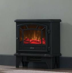 Electric Fireplace Heater Stove Small Realistic Flame Logs A