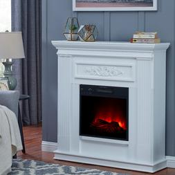 Electric Fireplace Heater TV Stand Real Flame Mantel Realist