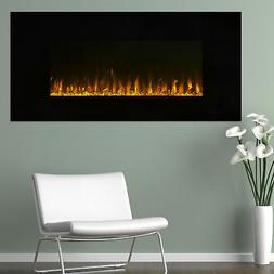 Electric Fireplace Heater Wall Mount LED Fire Ice Flame Remo