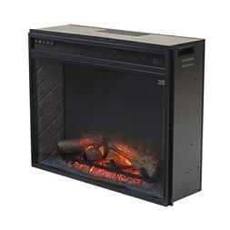 BOWERY HILL Large Electric Fireplace Insert Infrared in Blac