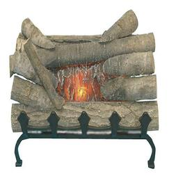 Electric Fireplace Logs Realistic Glowing Crackle Wood Inser