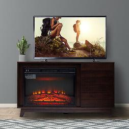 "Electric Fireplace Stand for TVs up to 50"" Media Table Conte"