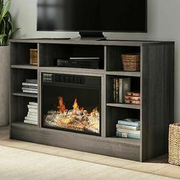 Electric Fireplace TV Stand Console Media Shelves Remote LED