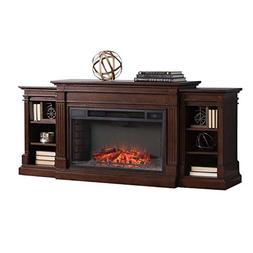 BOWERY HILL Electric Fireplace TV Stand in Espresso