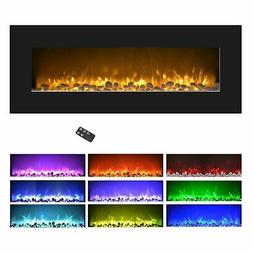 Northwest Electric Fireplace Wall Mounted, Color Changing LE