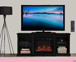 Electric Fireplace Wooden Entertainment Center Large Media T