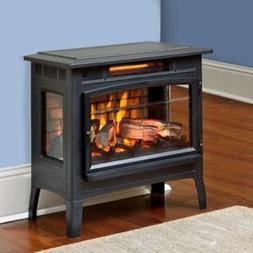 Electric Infrared Quartz Fireplace Stove 3D Flame Effect 100
