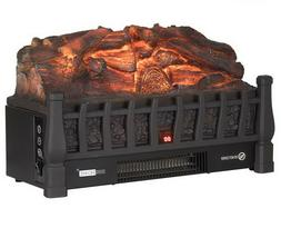 Electric Log Heater Infrared Set Remote Fire Fireplace Reali