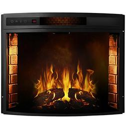 Moda Flame Elwood 33 Inch Curved Electric Fireplace Insert