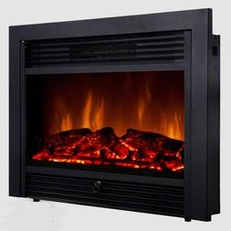 "Embeddable Electric Wall Insert Fireplace 28.5"" Home Heater"