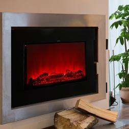"Embedded Electric Fireplace Insert Recessed 37.5"" Space Heat"