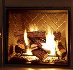 Ceramic Logs Fake Wood Flame 10 Pcs Fireplace Ethanol Gel El
