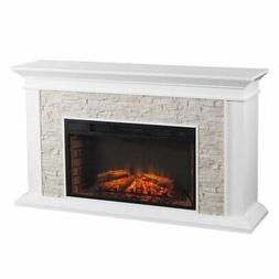 Bowery Hill Faux Stone Electric Fireplace