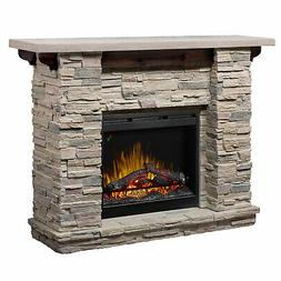 "DIMPLEX Featherston 61"" Electric Fireplace Mantel in Faux Le"
