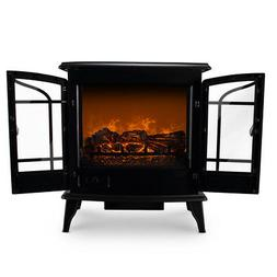 free standing electric 1400w fireplace heater fire