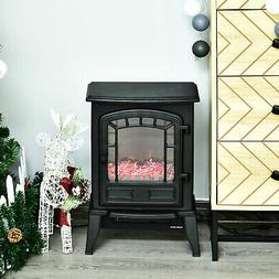 "Freestanding Electric Fireplace Stove Room Heater 9.5"" W 150"