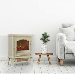 Freestanding Fireplace Infrared Quartz Electric Stove Space