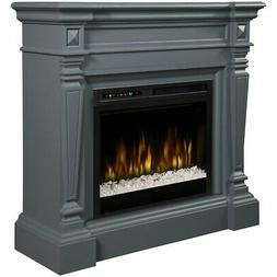 Dimplex Heather Mantel Electric Fireplace with Glass Ember B
