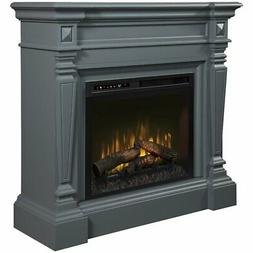 Dimplex Heather Mantel Electric Fireplace with Logs in Wedge