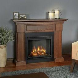 Hillcrest Electric Fireplace, Chestnut Oak