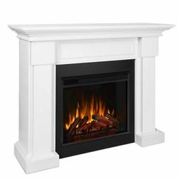 Hillcrest Electric Fireplace, White