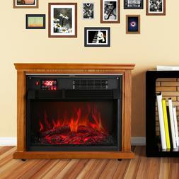 Infrared Electric Fireplace Insert Heater 1500W Overheat Fla