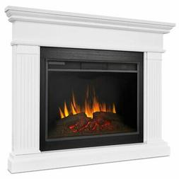 Real Flame Kennedy Grand Corner Electric Fireplace in White